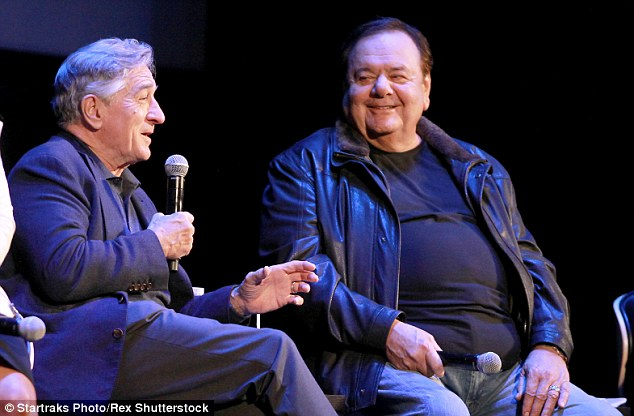 Paul Sorvino, right, who starred as mob boss Paul 'Paulie' Cicero in the movie, revealed during the Q&A that he had come close to quitting just days before filming as he failed to find the character
