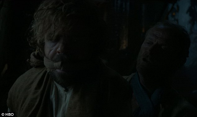 Meeting the queen: Tyrion Lannister was kidnapped by Jorah Mormont who said he was taking him to meet the queen