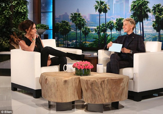 Victoria also wore the boots for an appearance on The Ellen Show