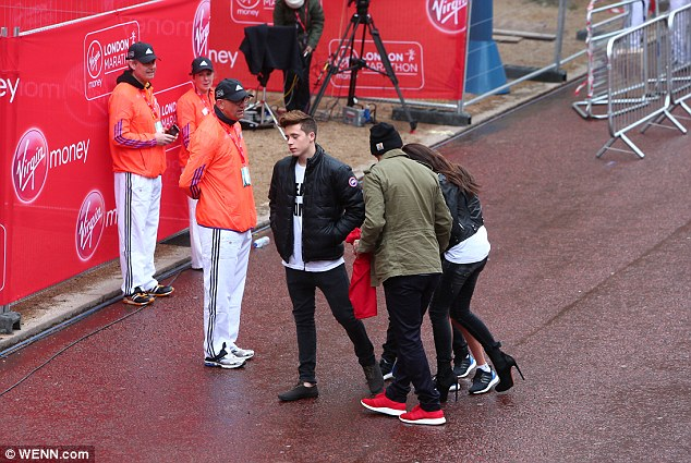 Celeb runner: Romeo joined  hundreds of children competing in the three mile course through London