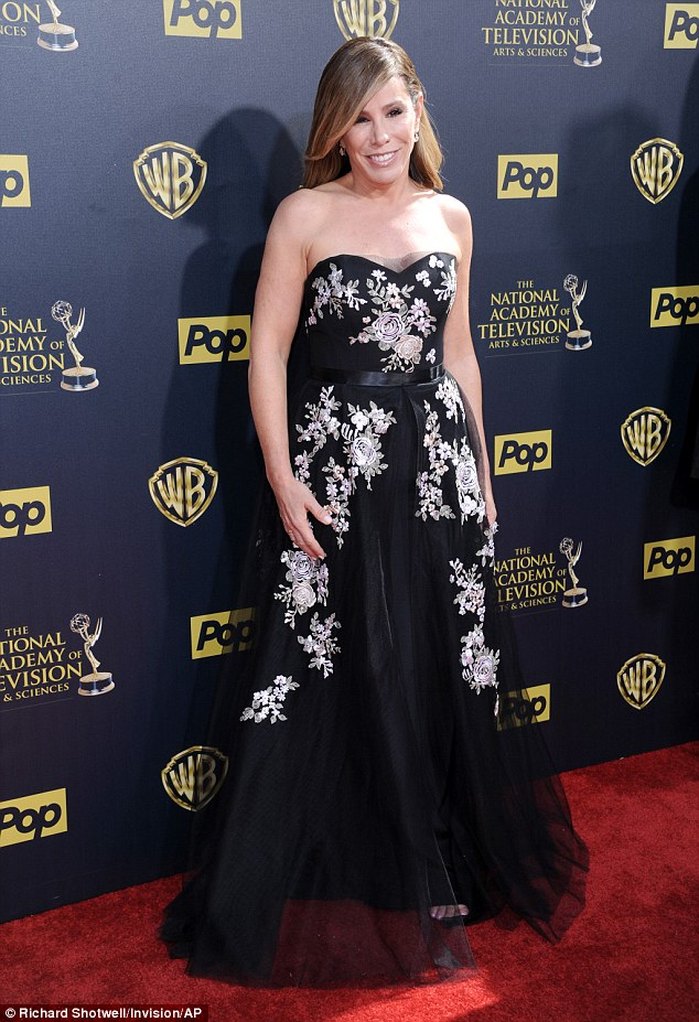 Poignant night: Melissa Rivers attended the Daytime Emmys at Warner Brothers Studios in Burbank, Los Angeles on Sunday