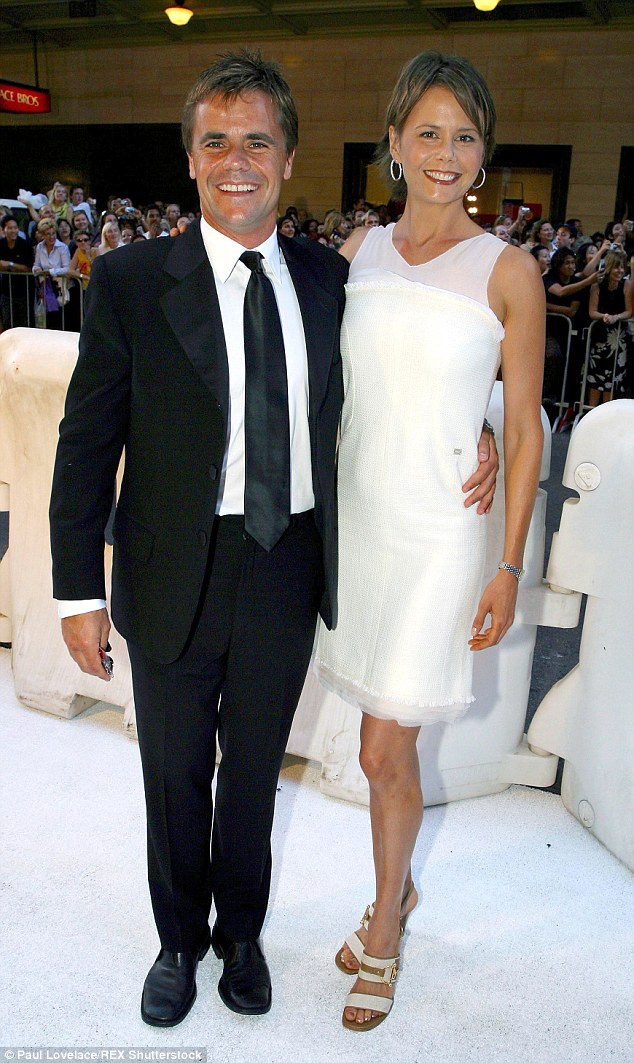 Sad news: Antonia Kidman's former husband Angus Hawley has died of a suspected heart attack aged 46 in New York. The pair are seen here in 2003