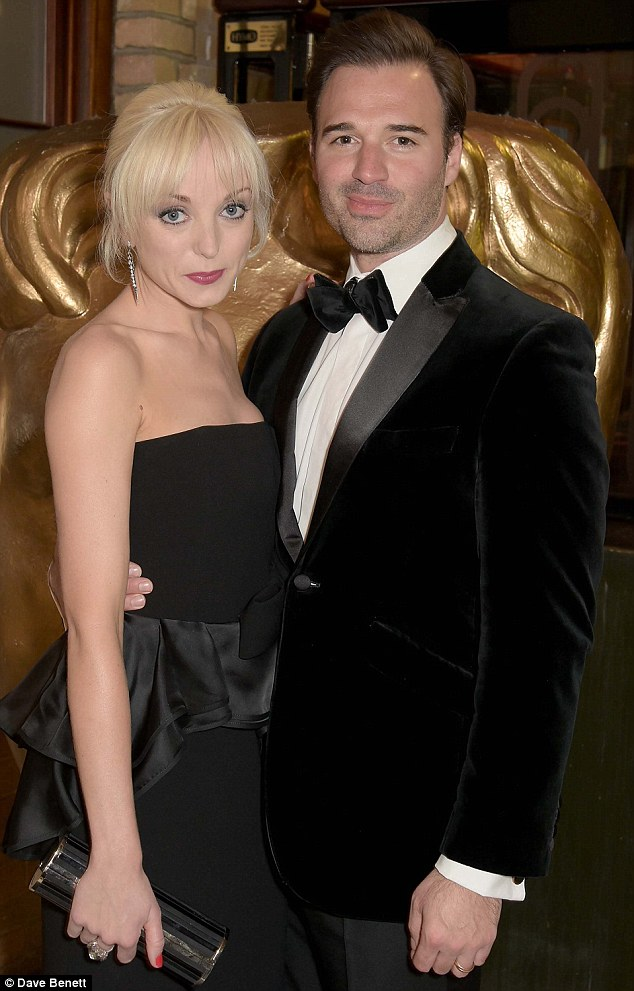 Scrubbing up well: The duo, who met on the set of Hotel Babylon, made a perfect match