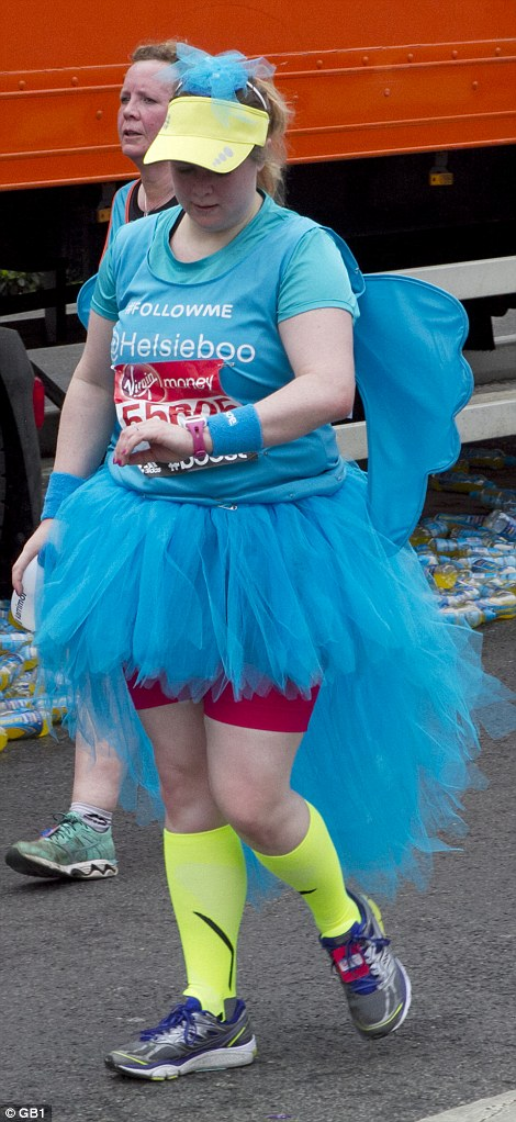 Children's characters and bright tutus were popular choices among marathon runners who opted to take part in the race in fancy dress