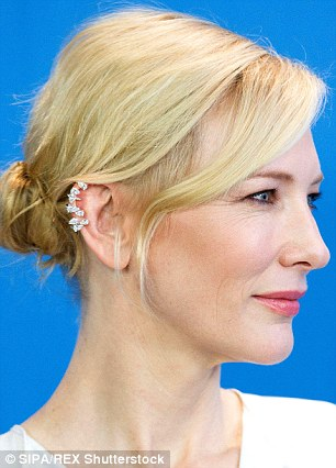 Cate Blanchett looks regal with a £3,800 diamond cluster from Repossi high on her ear