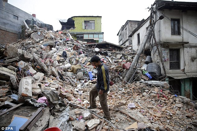 In Kathmandu thousands of people have died as they were trapped under rubble following the earthquake