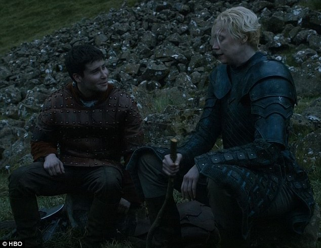 On the road: Podrick and Brienne continued their journey together and shared personal details