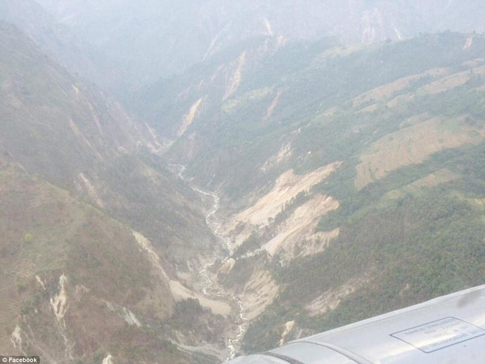 Remote beauty: Dr. Baburam Bhattarai flew over this valley in Gorkha and witnessed the destruction caused by the huge earthquake
