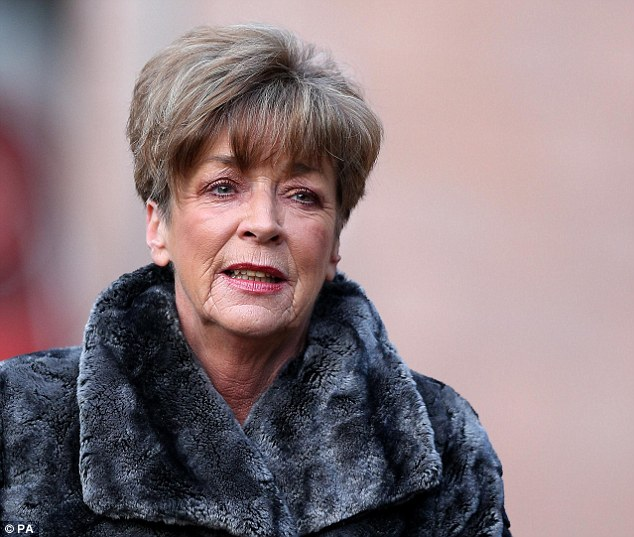 Posthumous honour: Anne Kirkbride, who played Deirdre Barlow in Coronation Street for over 40 years, is thought to be on the shortlist for the Outstanding Achievement award