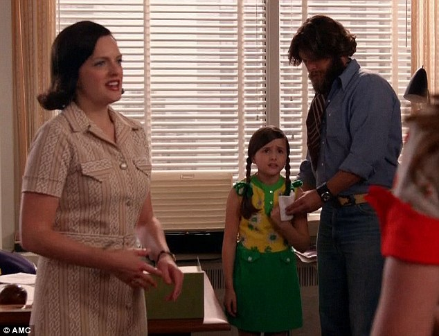 Getting emotional: Peggy Olson scolded a mother who left her daughter in the building after an audition