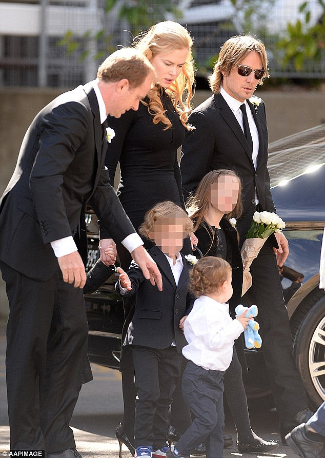 Tragic: Antonia's second husband Craig Marran accompanied her, her sister Nicole and husband Keith Urban to Dr. Antony's funeral in September last year