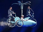 STRICT EMBARGO, NOT TO BE USED BEFORE 21:00 BST 27th APRIL 2015  Mandatory Credit: Photo by David Fisher/REX Shutterstock (4719626a)  Take That - Gary Barlow, Mark Owen and Howard Donald  Take That in concert, dress rehearsal, SSE Hydro, Glasgow, Scotland, Britain - 27 Apr 2015