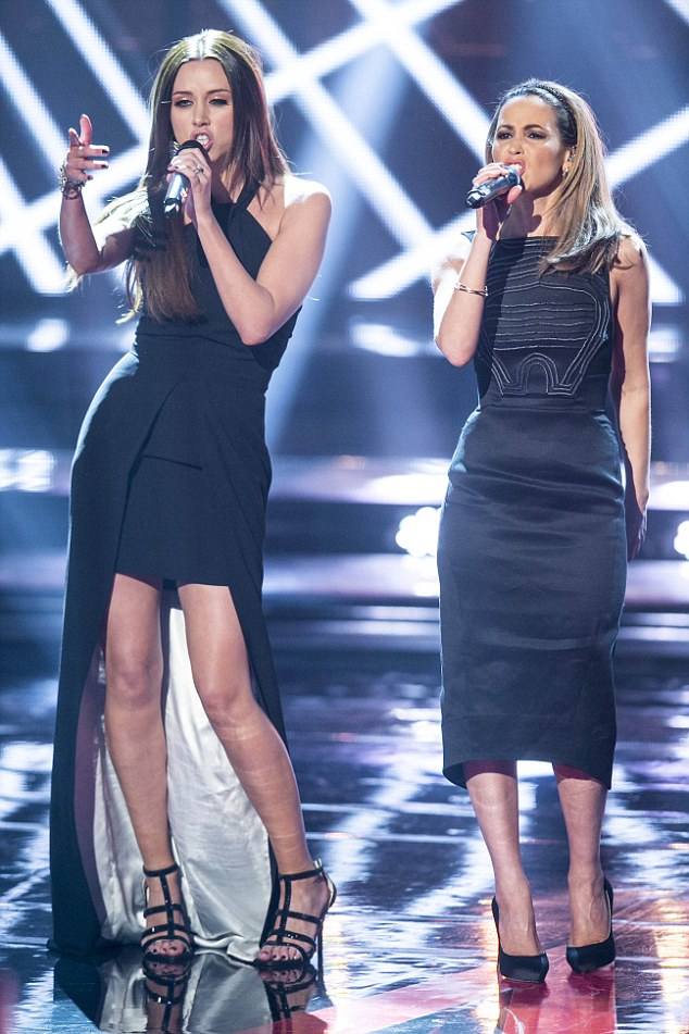 Sass: The girls celebrated each other's vocal talents as they teamed up for a musical number
