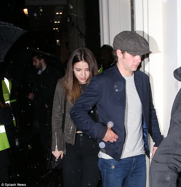 Romance in the air: While Niall may have enjoyed a chat with Maria, but he arrived with rumoured girlfriend Melissa Whitelaw