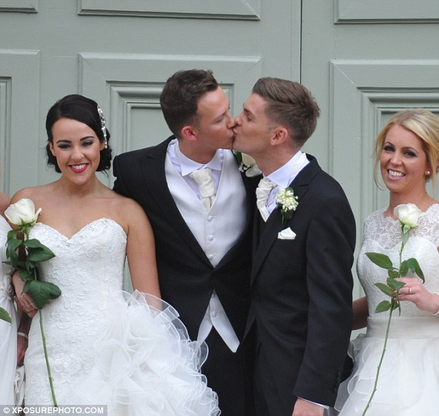 Love is the air! Kieron Richardson and Carl Hyland tied the knot in a romantic ceremony on Saturday