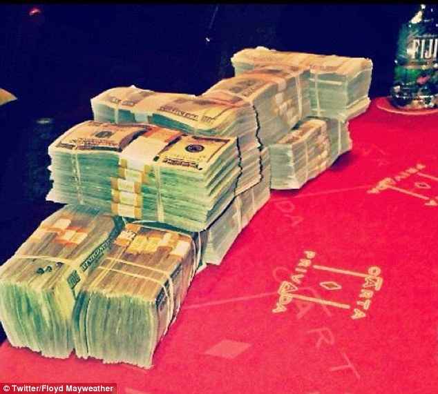 Mayweather has attracted criticism for his uncouth displays of his wealth on social media