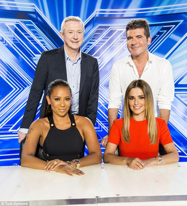 Return? Reports suggest Mel B and Louis Walsh won't be on the judging panel of this year's X Factor competition but Simon Cowell and Cheryl Fernandez-Versini will