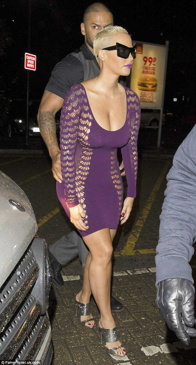 Milton Keynes bound: The US star has been soaking up the sights of the UK as she parties with clubgoers