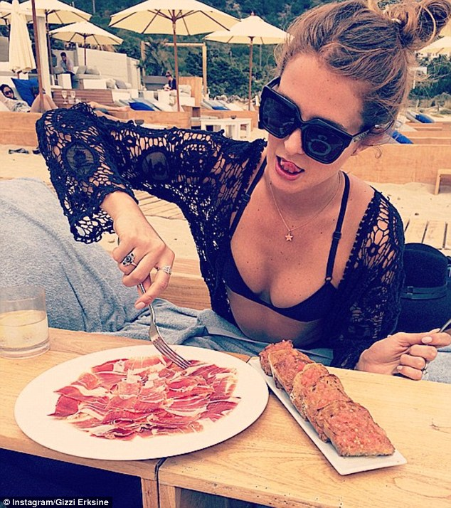 Lunch time! Top chef Gizzi shared an Instagram snap of Millie tucking into a beachside meal on Friday