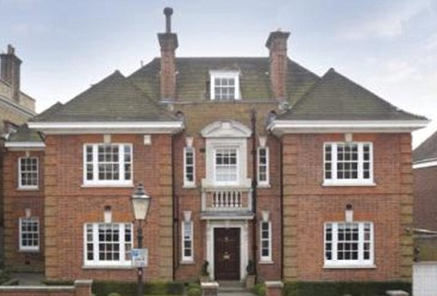 Pricey: The eight-bedroom mansion is on the market for £10.75million