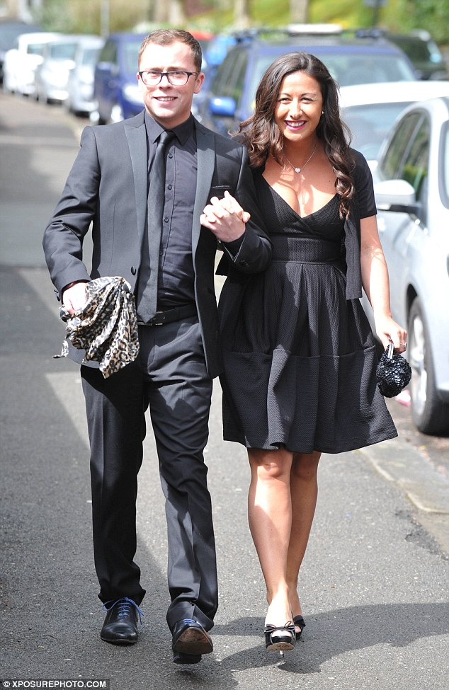 Romantic occasion: Former Hollyoaks star Joe Tracini was holding on tight to his date