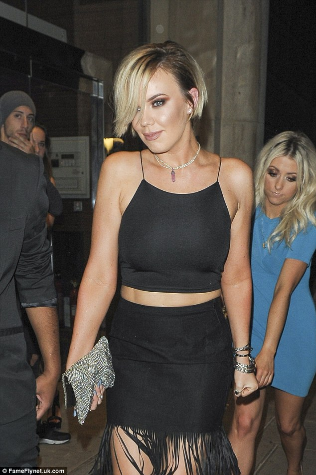 Blondes have more fun: The former TOWIE star looked ravishing with her newly short hair, which was lighter than ever