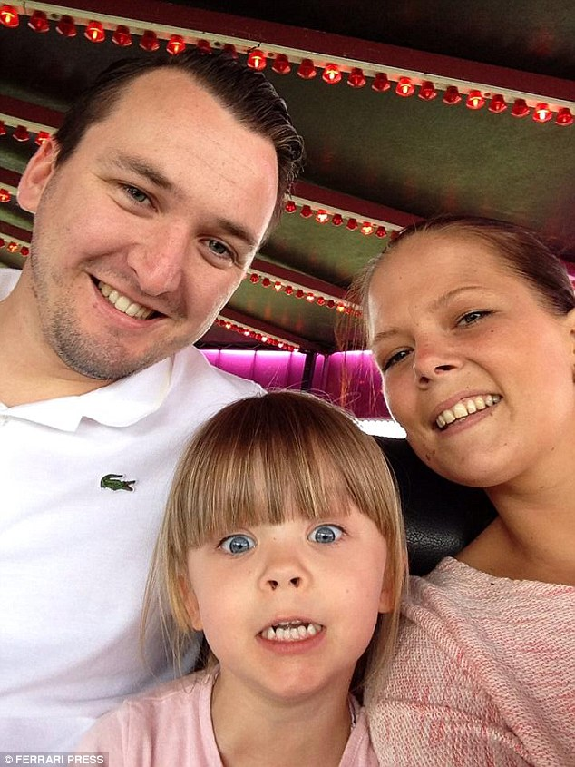 Courtney, pictured here with Billy and Dolcie, has a kidney cancer so rare that it has no name