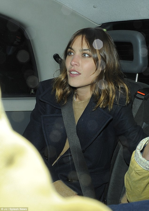 Out of here: She later was seen in a car outside the Royal Geographical Society