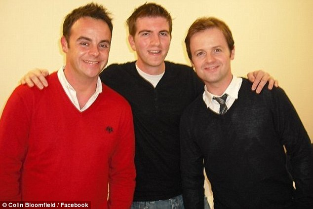 Bloomfield (pictured with fellow broadcasters Ant and Dec) died early yesterday morning at the age of 33