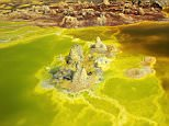 10 Jan 2012, Ethiopia --- Dallol Sulpher Hot Spring And Mineral Formations --- Image by © Kazuyoshi Nomachi/Corbis