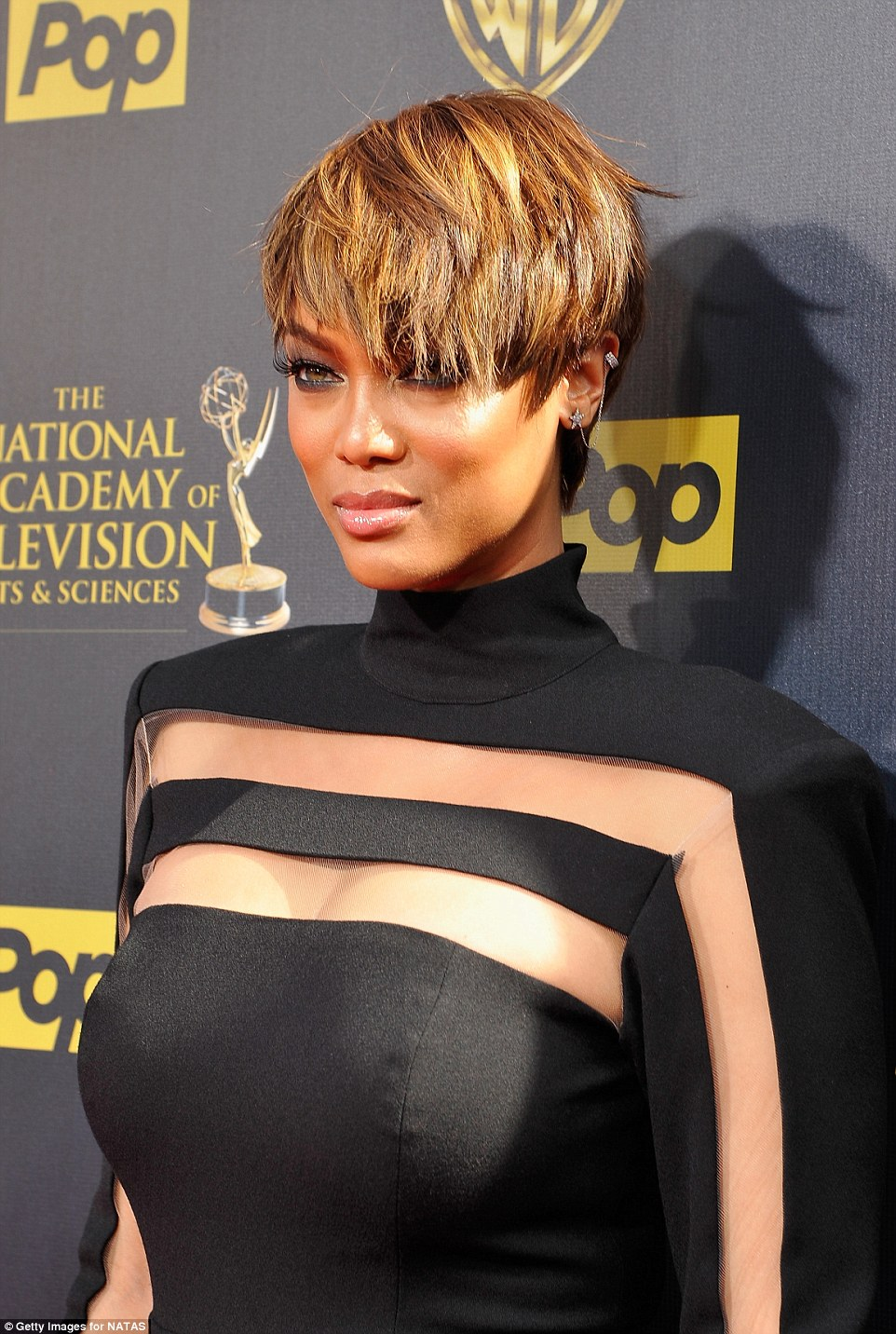 America's Next Top Host: Tyra was seen smoldering on the red carpet ahead of her big night presenting