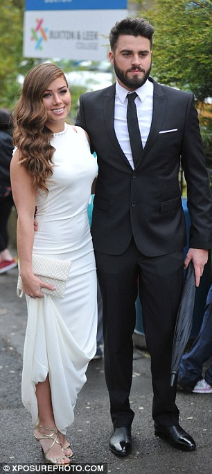 White hot: Nikki Sanderson was also in white picking a floor-length flowing gown for the occasion