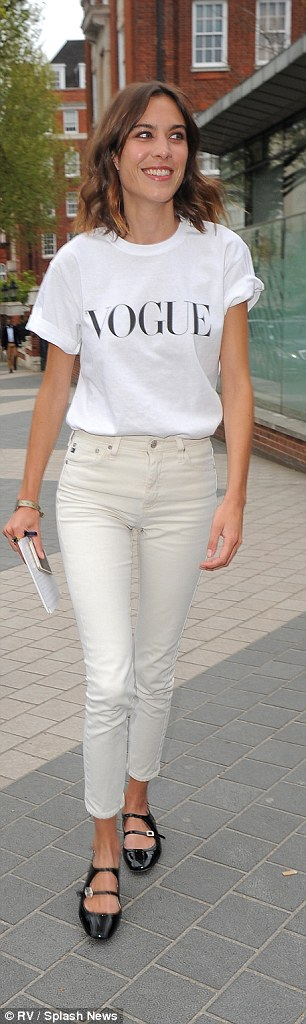Summer ready: Chung arrived at the Royal Geographical Society in cream cropped jeans and Mary-Janes