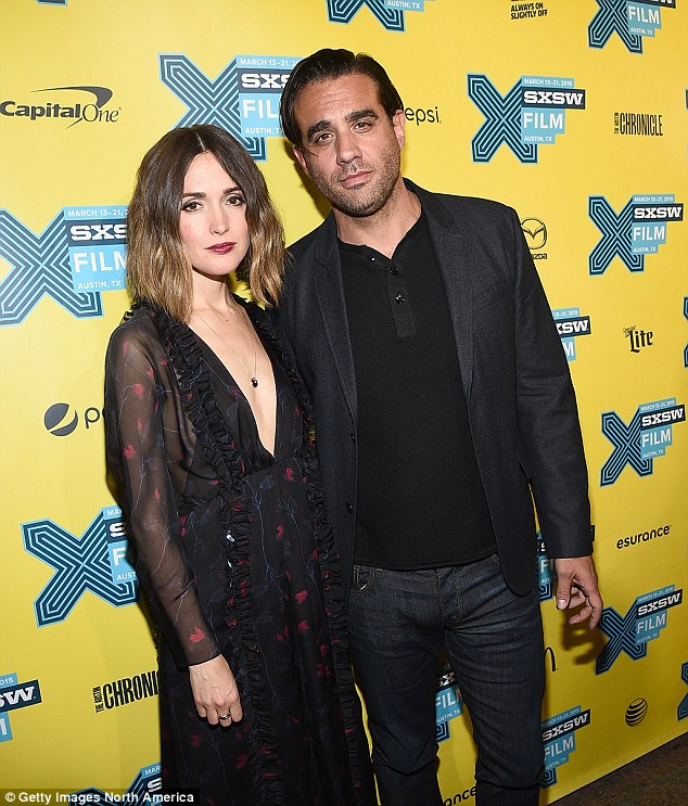 Inseparable: It's be revealed that Rose Byrne snagged her boyfriend of two-years, Bobby Cannavale his role on her new film Adult Beginners