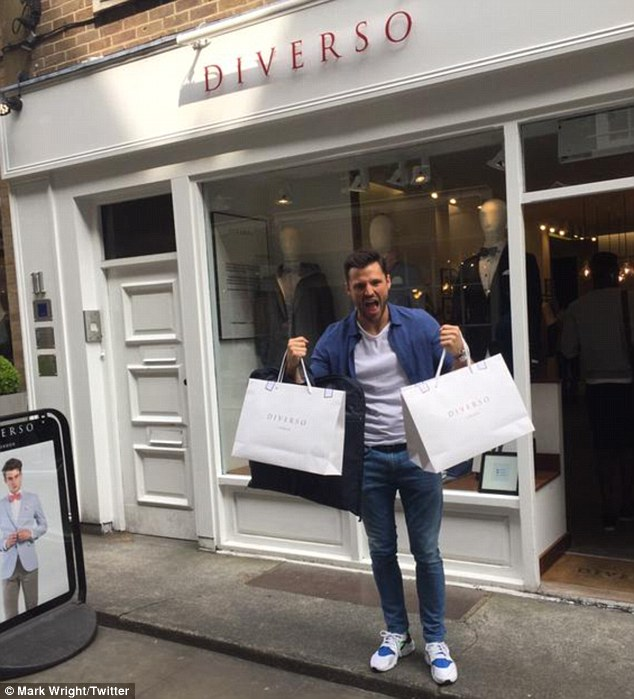 Stag-gering! On Friday, the 28-year-old star shared a shot of himself shopping for his upcoming stag trip