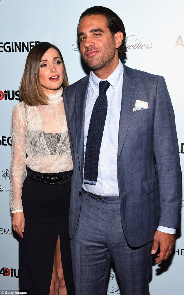 Talented duo: She has been dating Blue Jasmine star Bobby since 2012 with the actor confirming their relationship at the 2013 Emmys, saying in an acceptance speech: 'And I want to thank the love of my life, Rose