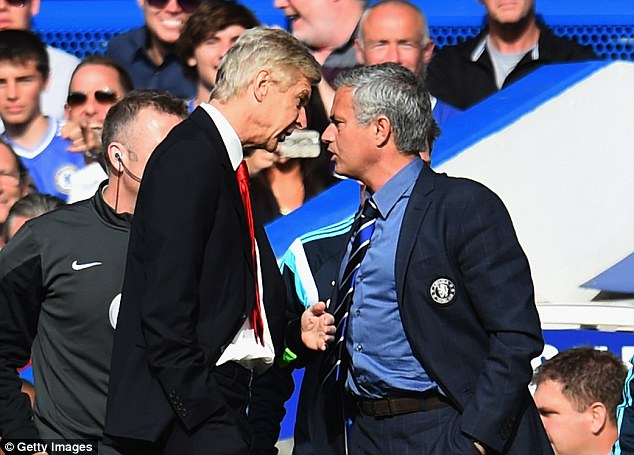 Arsene Wenger and Jose Mourinho face off during the last meeting between the two sides