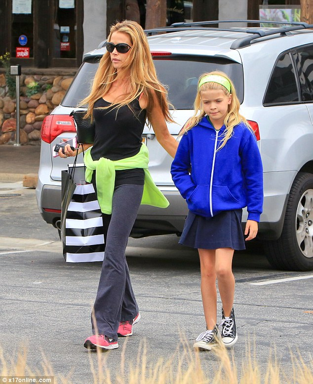 Bonding time: Denise Richards takes her daughter Lola to Sephora in Malibu on Friday