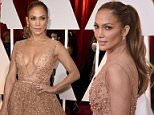 HOLLYWOOD, CA - FEBRUARY 22:  Singer/actress Jennifer Lopez attends the 87th Annual Academy Awards at Hollywood & Highland Center on February 22, 2015 in Hollywood, California.  (Photo by Frazer Harrison/Getty Images)