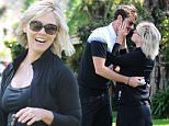 EXCLUSIVE FAO DAILY MAIL ONLINE GBP 40 PER PICTURE\n Mandatory Credit: Photo by Startraks Photo/REX Shutterstock (4711135bd)\n Jennie Garth and David Abrams\n Jennie Garth and David Abrams out and about, Los Angeles, America - 10 Apr 2015\n Jennie Garth and fiance David Abrams enjoying a round of golf in Los Angeles\n