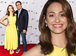"""NEW YORK, NY - APRIL 26:  Actress Emmy Rossum and Mr. Robot Creator/EP/writer Sam Esmail attend Tribeca Talks: """"Mr. Robot"""" during the 2015 Tribeca Film Festival at Chelsea Bow Tie Cinemas on April 26, 2015 in New York City.  (Photo by Gilbert Carrasquillo/FilmMagic)"""