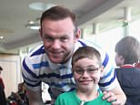 England and United captain Wayne Rooney was in attendance for the Manchester United foundation's 'Dream Day'