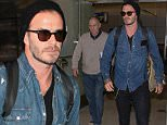 David Beckham returns to LA  after being in London with his family. April 27, 2015 X17online.com