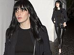 Younger sister of Lindsay Lohan, Ali Lohan wearing black leather pants was seen leaving the Chateau Marmont Hotel in West Hollywood, CA  Pictured: Ali Lohan Ref: SPL1011284  280415   Picture by: SPW / Splash News  Splash News and Pictures Los Angeles: 310-821-2666 New York: 212-619-2666 London: 870-934-2666 photodesk@splashnews.com