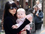 Mandatory Credit: Photo by Startraks Photo/REX Shutterstock (4711117v)  Alec Baldwin and Hilaria Baldwin with daughter Carmen Baldwin  Alec Baldwin and Hilaria Baldwin out and about, New York, America - 26 Apr 2015  Alec Baldwin and Family Leaving a Park For the Second Time in One Day