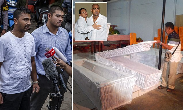 Bali Nine pair to be shot after the stroke of midnight on Wednesday
