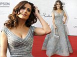 """Actress Salma Hayek poses ahead of the screening of """"The Prophet"""" movie in Beirut April 27, 2015. Hayek said on Monday her new film """"The Prophet"""" was a labour of love that helped her explore her relationship with her late Lebanese grandfather who adored the book it was based on. The animated film, based on the 1923 book by Lebanese-born writer Khalil Gibran, tells the story of Almitra, a headstrong girl who forms a friendship with the imprisoned poet Mustafa, voiced by actor Liam Neeson. REUTERS/Mohamed Azakir"""