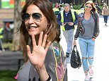 Picture Shows: Lisa Snowdon  April 28, 2015    Presenter Lisa Snowdon is seen outside Capitol Radio studios in London, England.    Lisa was all smiles for the cameras as she showed off her graphic print bomber jacket paired with distressed blue jeans and pink converse sneakers.    Non Exclusive  WORLDWIDE RIGHTS    Pictures by : FameFlynet UK © 2015  Tel : +44 (0)20 3551 5049  Email : info@fameflynet.uk.com