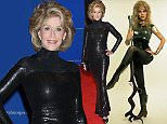 No Merchandising. Editorial Use Only.. Mandatory Credit: Photo by SNAP/REX Shutterstock (390940hp).. 'BARBARELLA' WITH 1968, JANE FONDA, PORTRAIT STUDIO, GUN, SCI-FI, WEAPON, FUTURISTIC, BOUFFANT, OUTFIT - PLASTIC, WOMEN (PROTAGONIST), WOMEN (DANGEROUS), SEXY, HAND ON HIP, ANGRY IN 1968.. VARIOUS.. ..
