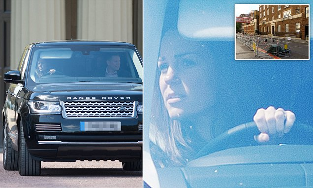 Kate Middleton and Prince George leave Buckingham Palace after dip in Queen's pool
